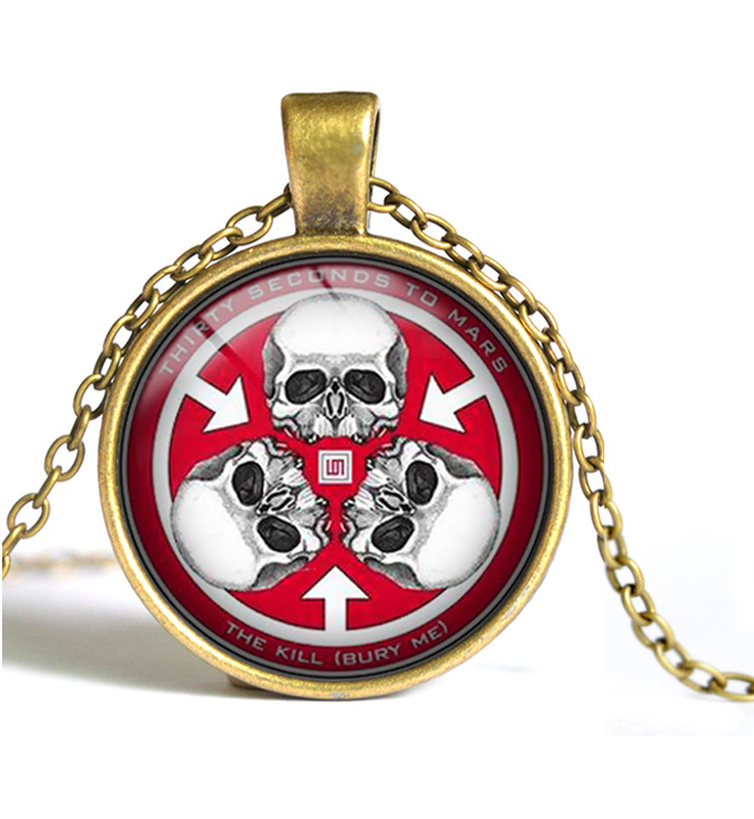 Europe Trade jewelry 25mm 30 seconds to Mars time gem necklace wholesale Y026(China (Mainland))