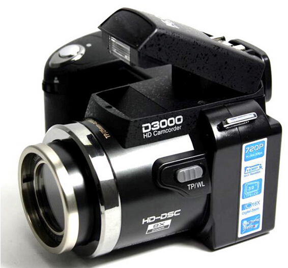 D3000 3 0 inch 16MP 720P HD Digital Camera Professional Camcorder 16x Optical Zoom Sharpshots with