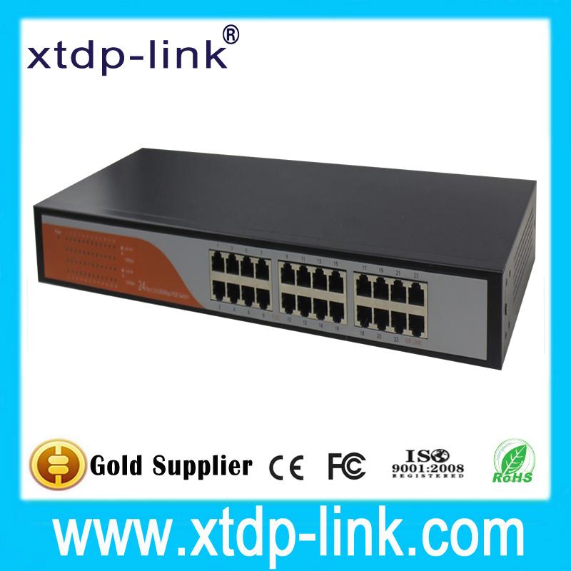 Здесь можно купить  XTDP-Link 24 port poe switch with managed function 24port 100mbps for hikvision ip camera  Компьютер & сеть