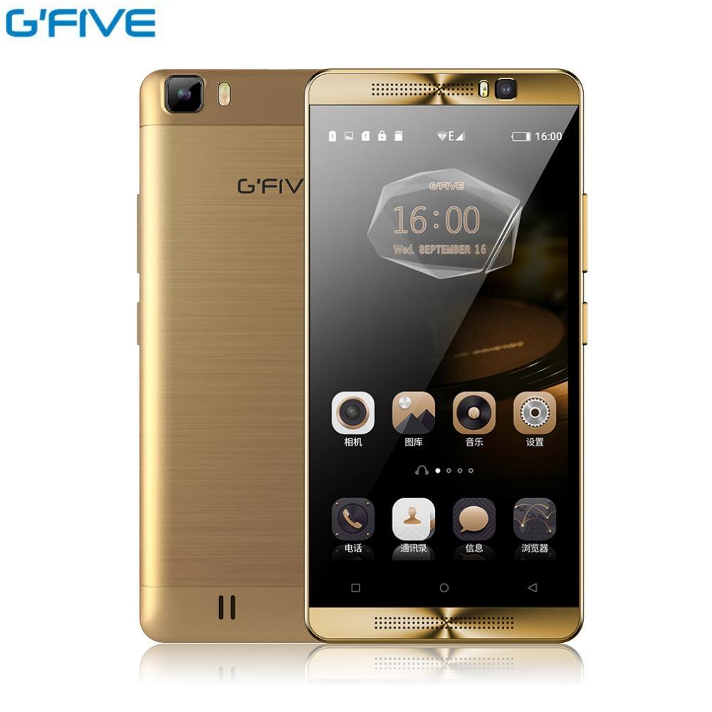 Original Gfive L3 5.5 inch Android 6.0 MT6580M Quad Core 2GB+16GB Smartphone Dual Camera Sim Mobile Phone 5000mAh Battery(China (Mainland))