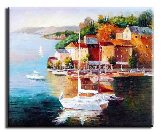 scenic Oil Painting on Canvas Modern Abstract Oil Painting Wall Art for Home Decoration 1pc no frame free shipping(China (Mainland))