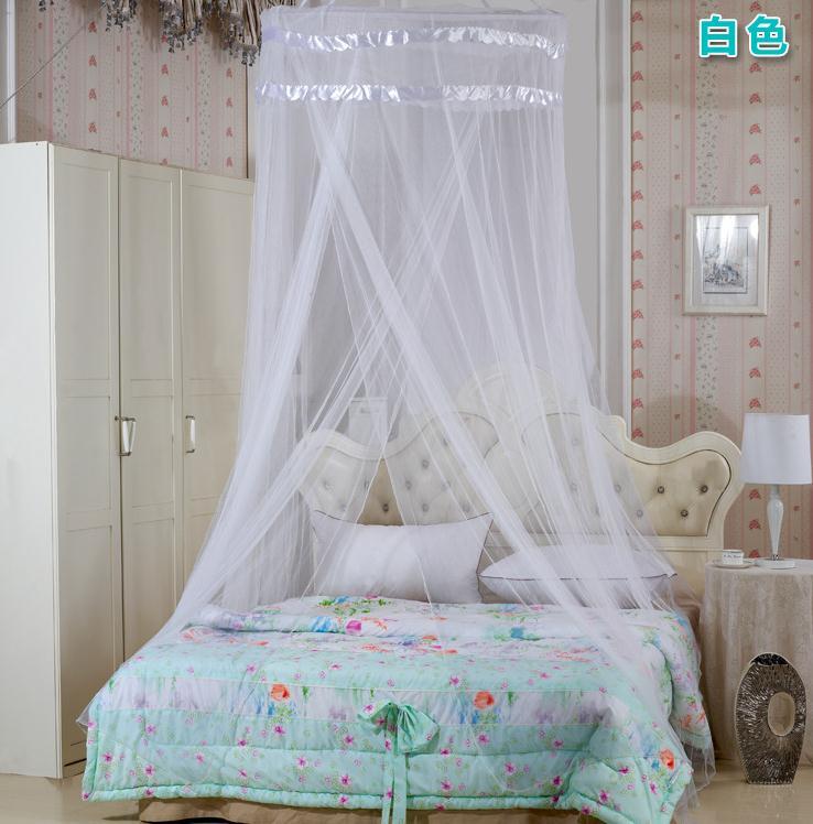 Good Quality Home Round Lace Curtain Dome Bed Canopy Netting Mesh Princess Mosquito Net 1pcs De Teto Magic Mesh(China (Mainland))