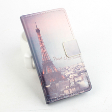 Eiffel Tower Butterfly Jiayu F2 Case Luxury PU Leather Case for Jiayu F2 Cover With Stand Function and Card Slots Free Ship