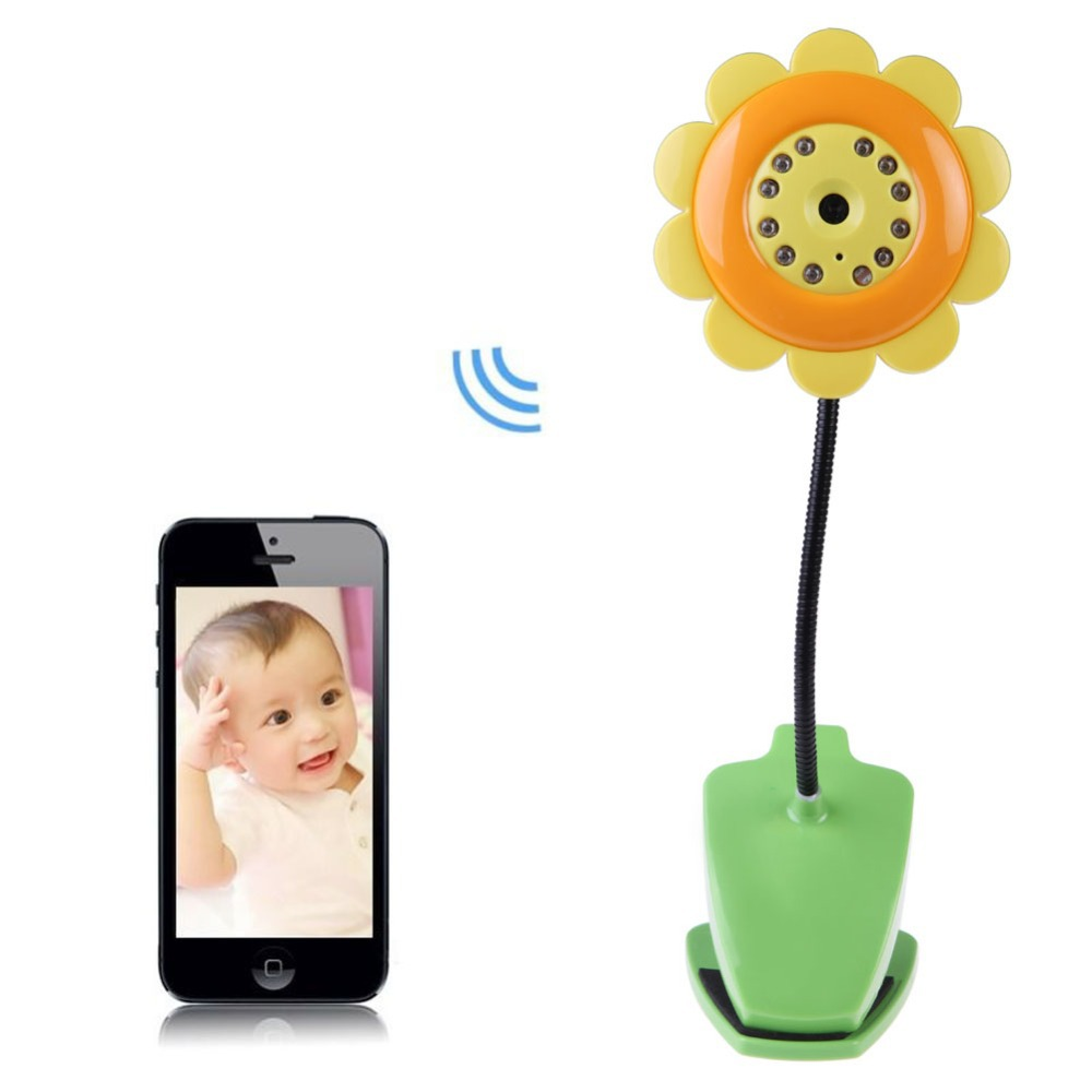 High Quality New Wifi Security Baby Camera Monitor Smartphone Audio Night Vision Yellow LD789