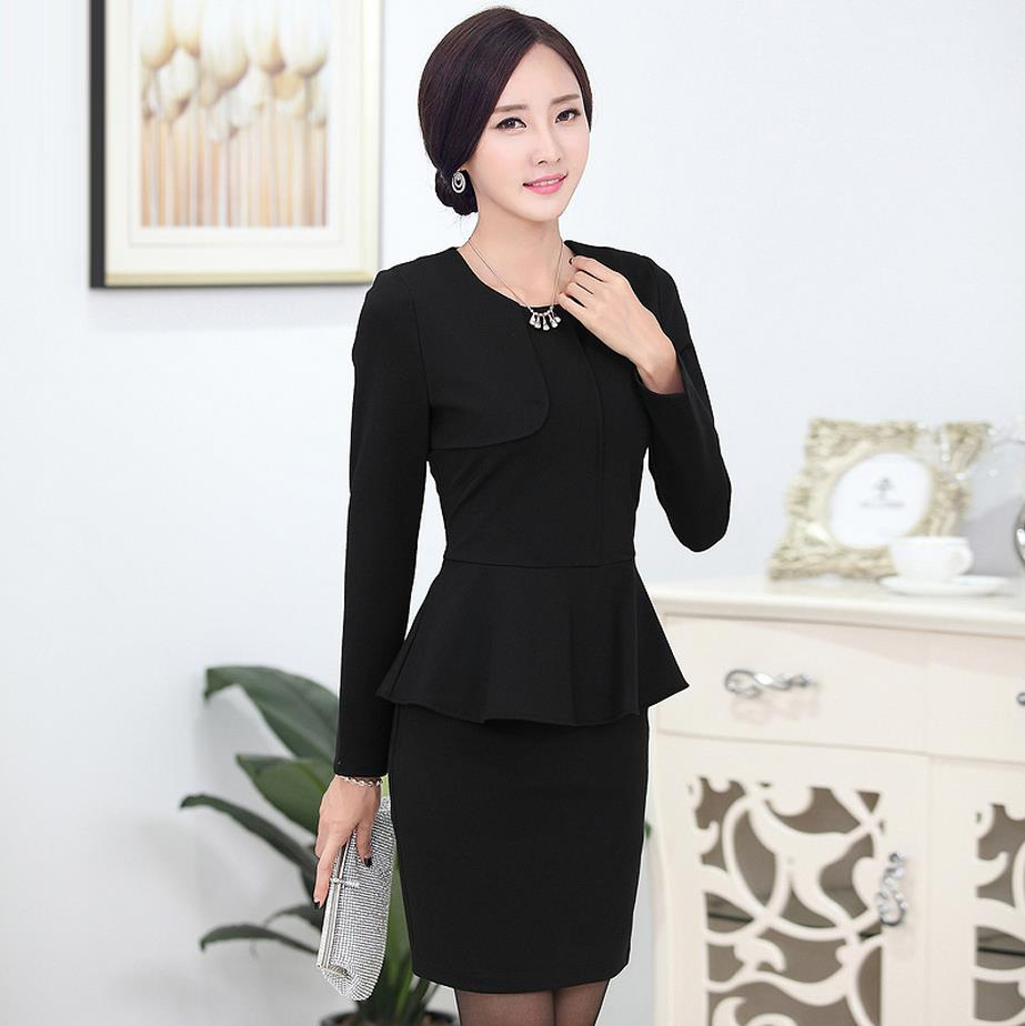 Ladies mini skirt blazer new 2016 autumn fashion women for Office uniform design 2016