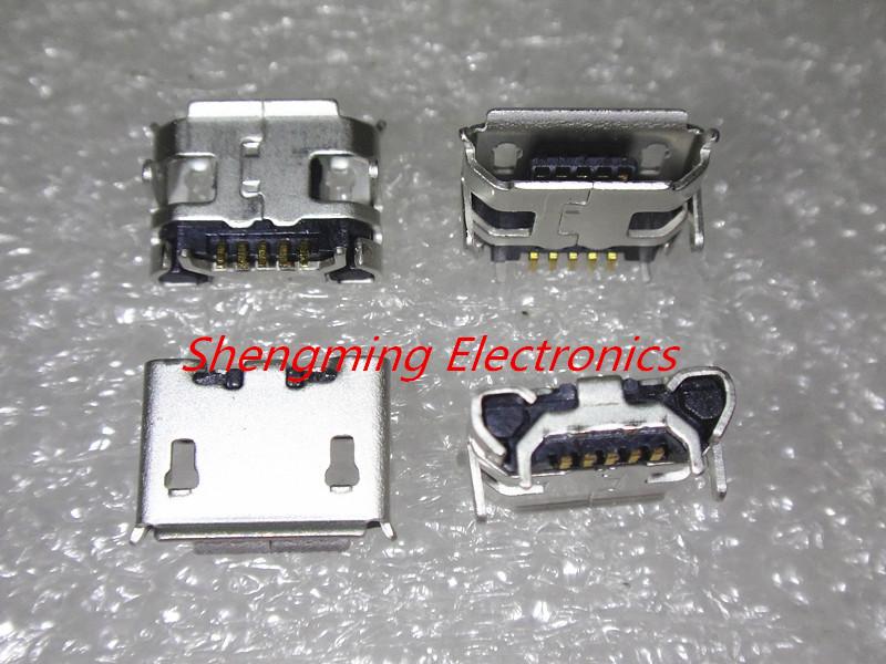 (NO:1) 20PCS Micro USB 5P 5-pin Micro USB Jack 5Pins Micro USB Connector Tail Charging socket(China (Mainland))