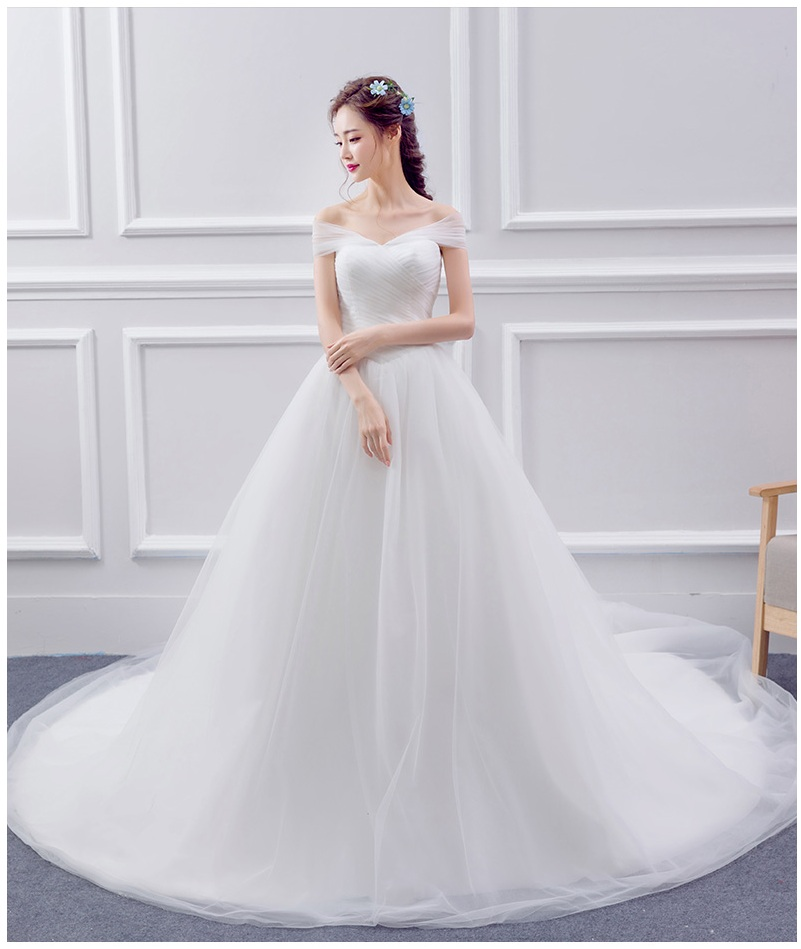 deal wedding dress ball gown wedding dress floor length draped dress