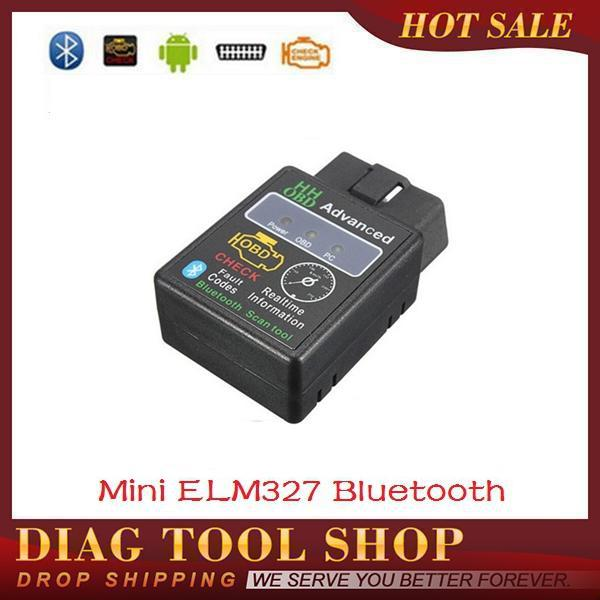 HH OBD Mini ELM327 Bluetooth V1.5 OBDII Auto Scanner Mini 327 OBD2 Car Diagnostic Tool ELM 327 works on Android Torque(China (Mainland))