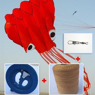 soft octopus kite+22cm blue wheel+400m line,hot sell, free shipping<br><br>Aliexpress