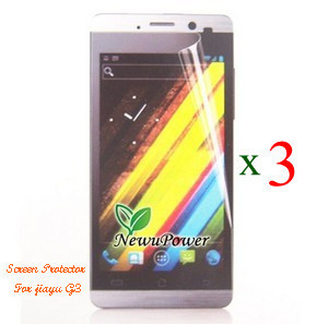 Free shipping 3 pieces screen protector film for Jiayu G3 phone