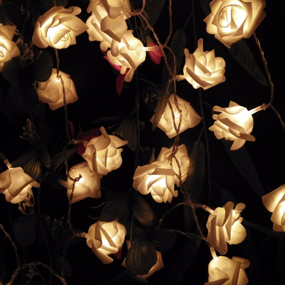 3M 30LED Holiday Rose Floral LED String Lights AA Battery Event Wedding Party Decoration Lightings LED de Vacaciones Luces(China (Mainland))