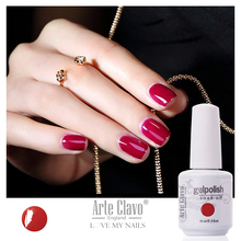 60 Cores Venda Quente Arte Clavo 15 ml Nail Polish Soak Gelpolish Off Laca Unha Polonês Gel UV Unhas de Gel Polonês Gel UV
