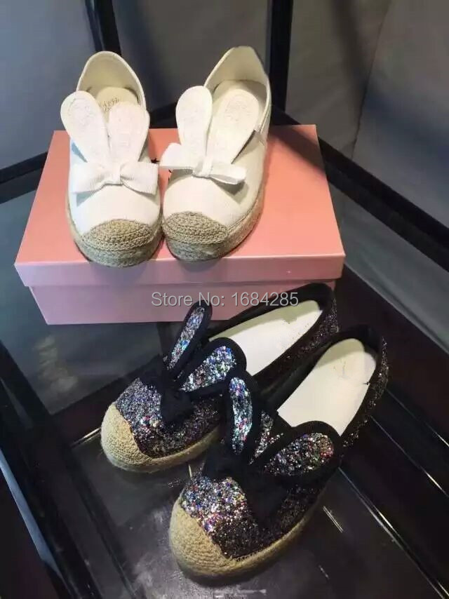 Shiny Rhinestone Rabbit Sweet Girls Leisure boat shoes Womens Comfort Slip On Loafers Shoes<br><br>Aliexpress