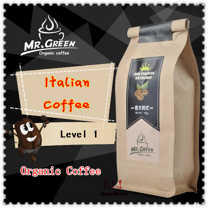 New 2015 Real Origin Of Green Coffee Beans Fresh Baked Italian Coffee Slimming Blending Coffee Bean