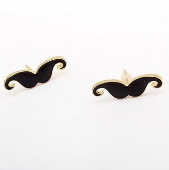 2014 New Brand Design Korean Fashion Elegant Vintage Cute Mini Black Moustache Earrings Statement Jewelry Cheap Wholesale PT31