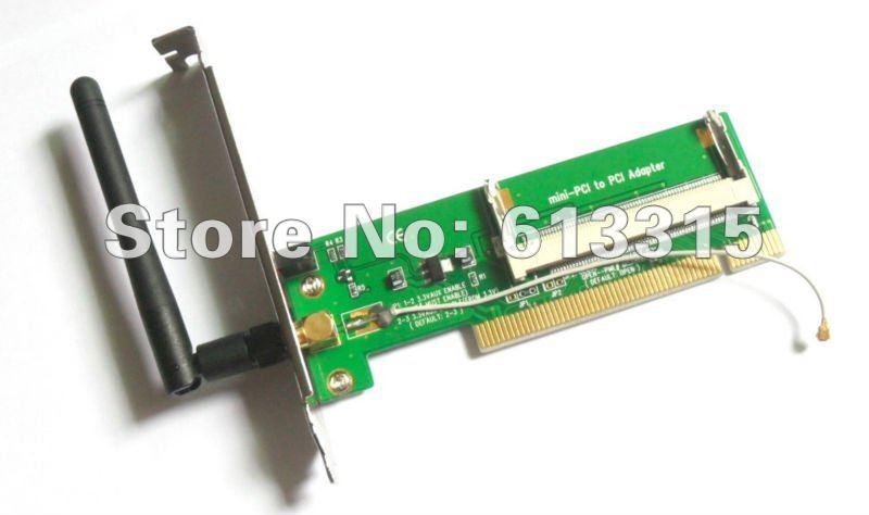 1PC WLAN Wireless WIFI Card mini pci to adapter+Antenna(China (Mainland))