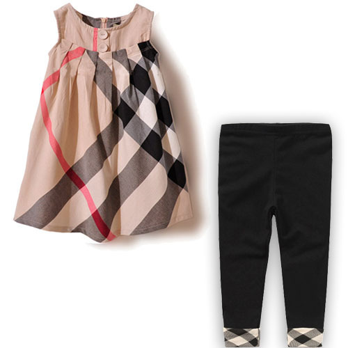 Summer girl clothing set high quality kids clothes sets casual children clothing 100% cotton girls dress + baby leggings hot(China (Mainland))