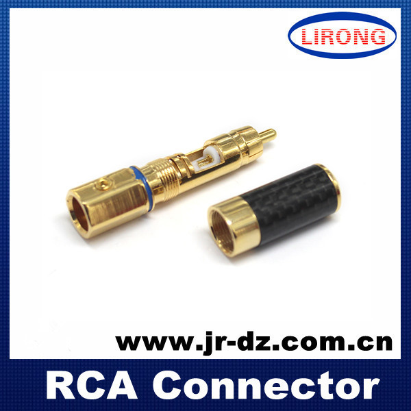 Good Quality High Performance Rhodium Plated HI Fi RCA Audio Plug Carbon Fiber - Chaozhou Xiangqiao District Lirong Electronics Factory store