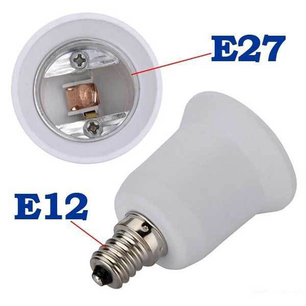 Cabotdeal E12 to E27 Candelabra Halogen CFL Bulb Socket Adapter Converter(China (Mainland))