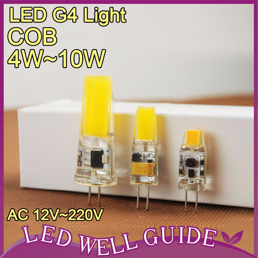 Mini G4 LED Lamp COB LED Bulb 4W 6W 10W DC/AC 12V 220V LED G4 COB Light Dimmable Chandelier Replace Halogen G4 Lamparas Lampada(China (Mainland))
