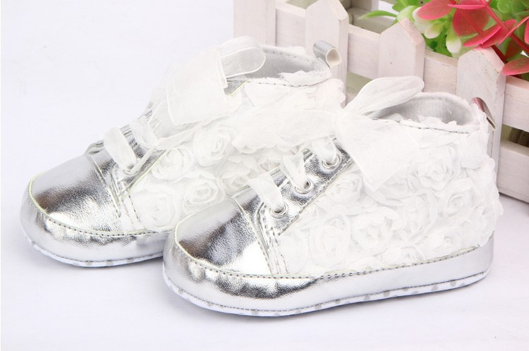 sapatos kids Rose flower soft sole girl Bebe first walkers Baby Toddler Shoes 3 colors Free&Drop Shipping