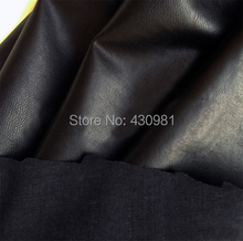 Sold By Meter Black PU leather Faux Leather Fabric For Sewing Sheep Skin Washed Artificial Leather Fabric For Furniture(China (Mainland))