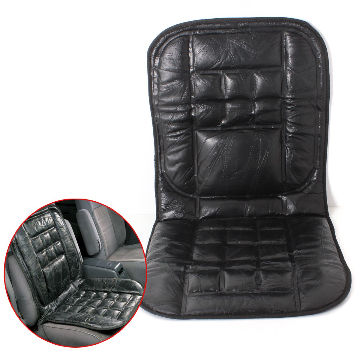 Leather Back Support Front Seat Cover Cushion Chair Massage Car Taxi Van(China (Mainland))