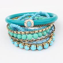 Wholesale Best-seller Vintage Nationality Strings of Beaded Multi-layers Charm Bead Bracelet Bangle bracelets & bangles(China (Mainland))