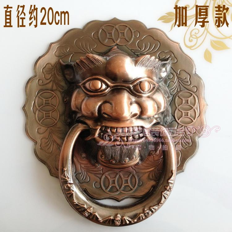 Classic antique copper outdoor patio door knocker Shoutou Chinese lion head handles Handle 20cm free shipping<br><br>Aliexpress