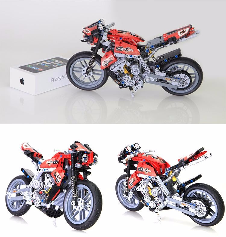 2017 new arrival technic series Technic Motorbike Motorcycle building Block Brick Toy Set Boy Gift Compatible with legoes 8051