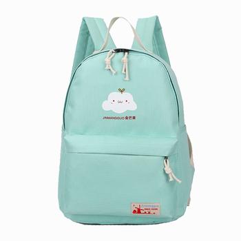 CASUAL Shoulder School Bags For Teenage Girls  Women Printing Backpack Shoulder Drawstring Bags Cute Clouds Canvas Backpacks