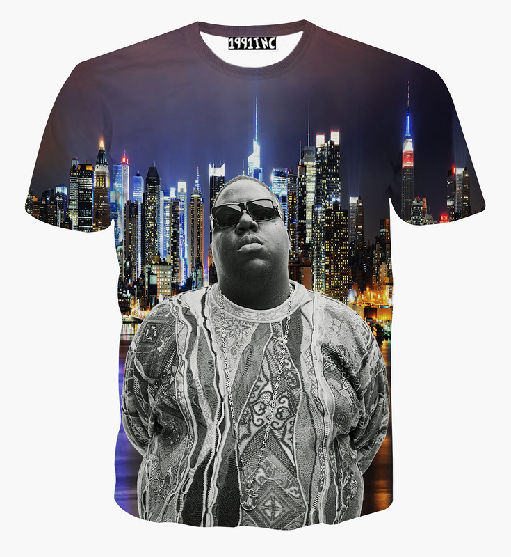 Women/Men Christopher G. L. Wallace T-Shirt Biggie Smalls tee 3D Summer Frank White tees Notorious B.I.G. t shirts Fashion Tops(China (Mainland))
