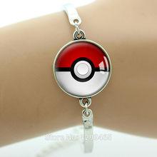 Pokemon braccialetto Ispirato Vetro Cabochon Cupola Braccialetto Pokemon gioielli di moda per uomini e donne placcato argento Nuovo B184(China (Mainland))