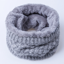 2016 New Fashion Women Scarf Unisex Winter Knitted Scarves Plus Velvet Cotton Neck Warmer Woman Crochet Ring Men Loop Scarf(China (Mainland))