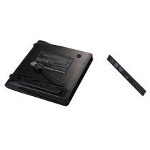 New arrival  wholesale Aluminum  Black  USB 3.0 External DVD Rom Case USB 3.0 to 12.7mm SATA Enclosure for CD DVD RW