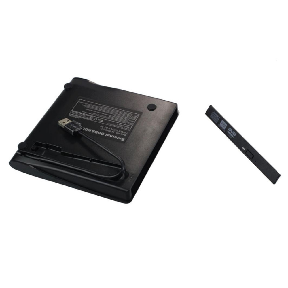 New arrival wholesale Black USB 3.0 External DVD Rom Case USB 3.0 to 12.7mm SATA Enclosure for CD DVD RW(China (Mainland))