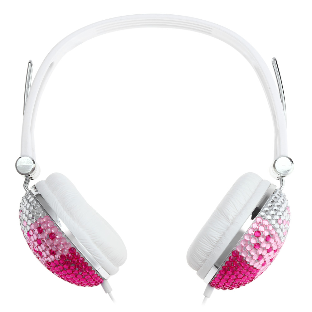 Popular Shiny Headphone Earphone Anti-noise Music Headphone With Artificial Crystal Rhinestone Bling For Smartphone Tablet Gift(China (Mainland))