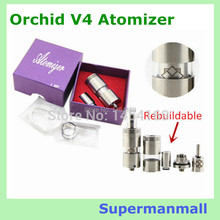 RDA  e cigarette rebuildable atomizer Stainless steel Orchid V4 Atomizer upgrade of RBA orchid v2 v3 mod atomizer