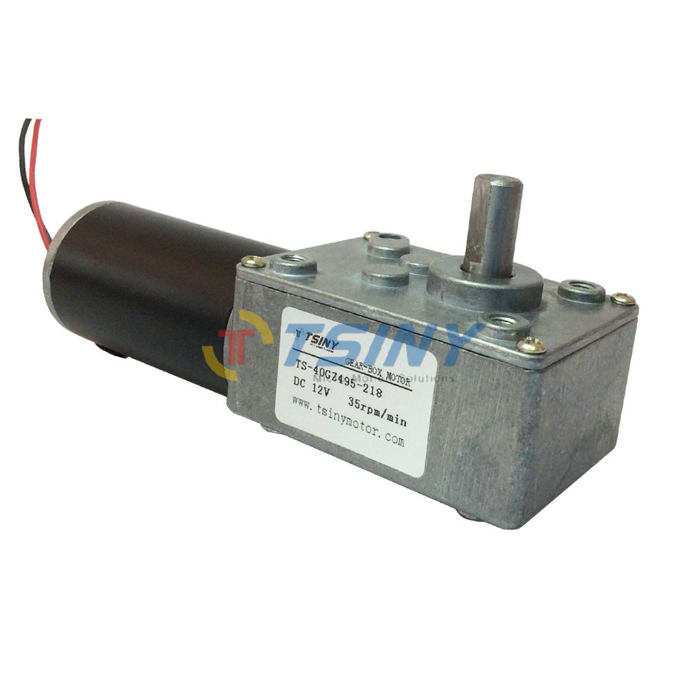 12V/35R High-torque Worm Gear Motor,Geared Motor,Electric Motor With reduction Gearbox,Free shipping(China (Mainland))