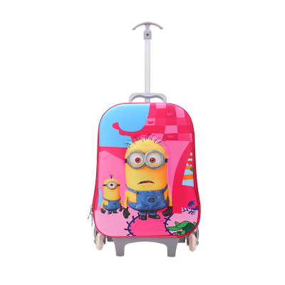 2015 New kids 3D Cartoon Despicable Minions trolley school bags children Trolley School Bags Classic Travel Luggage Suitcase - Baby & Honey store