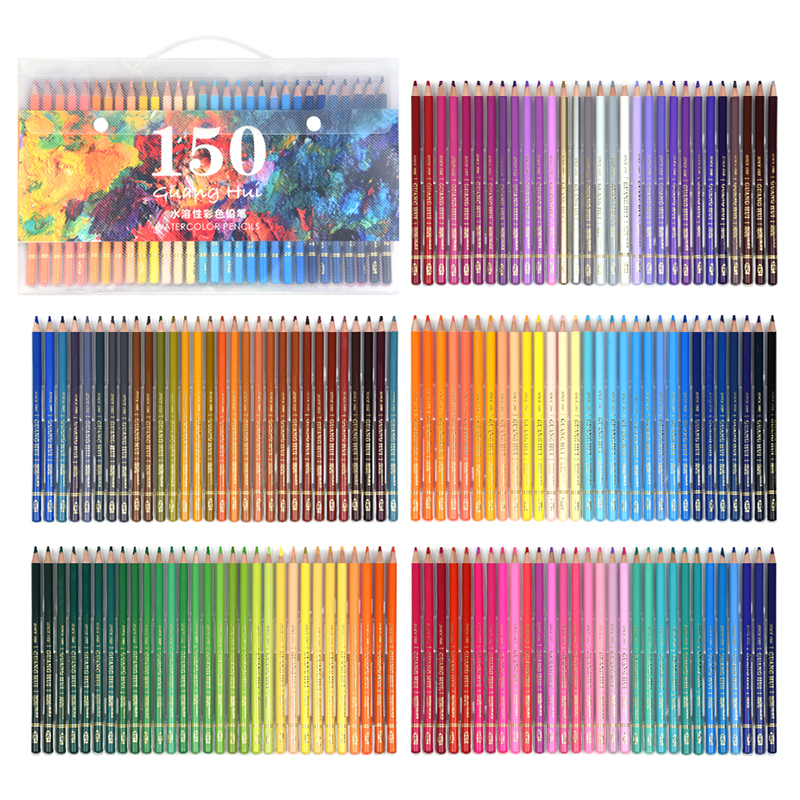 Artist Quality 150 Colors lapices Watercolor Professional Soft Water Soluble Coloured Pencils Set For Fine Art Drawing Sketch(China (Mainland))