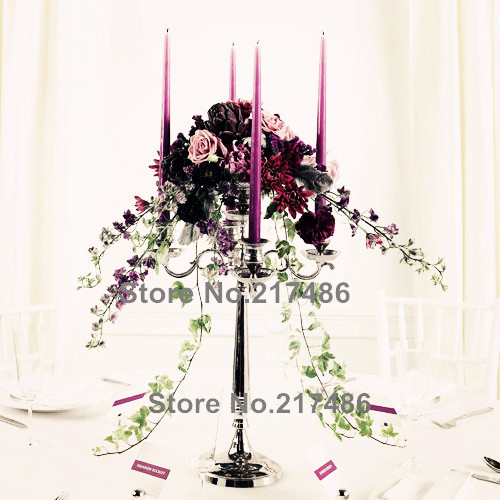 crystal gift ,crystal candle holder nice decorative crystal table standing candelabras(China (Mainland))
