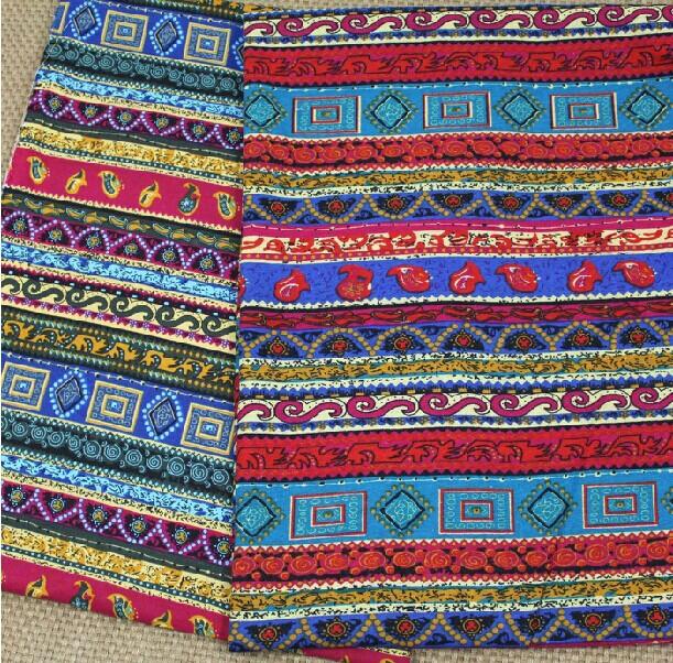 3 assorted 50 75cm bohemia style linen cotton print - Telas de la india online ...