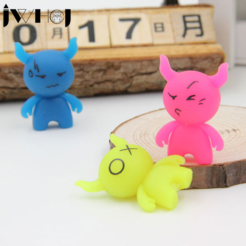 3 pcs/lot JWHCJ Novelty cute Cartoon cow luminous rubber eraser creative stationery school supplies papelaria gifts for kids(China (Mainland))