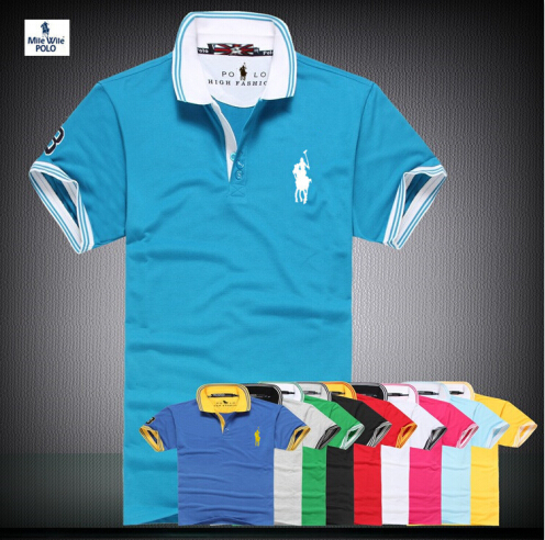 Solid Polo Shirt Big Horse Polo Small Horse Lacote Polos Raph Men Homme Marque Cotton Men Brand polos(China (Mainland))
