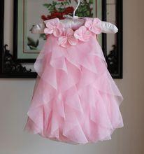 1pcs 2015 summer style baby girls dress 4color vestidos de chiffon newborn girl dress suit 9-24M(China (Mainland))
