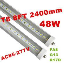 led tube lights 8ft T8 FA8 Single Pin LED Tube Lights 48W 4800Lm Bulbs SMD 2835 2400MM 8feet LED Fluorescent Tube Lamps 85-265V(China (Mainland))