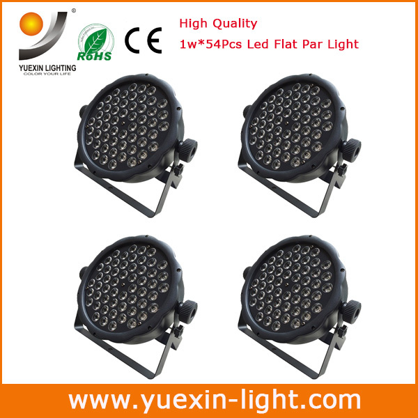 Hot 2015!4/lot 54*1W Led DMX512 Dj Stage Lighting moving heads High power RGB Par Light For Disco Party Nightclub(China (Mainland))