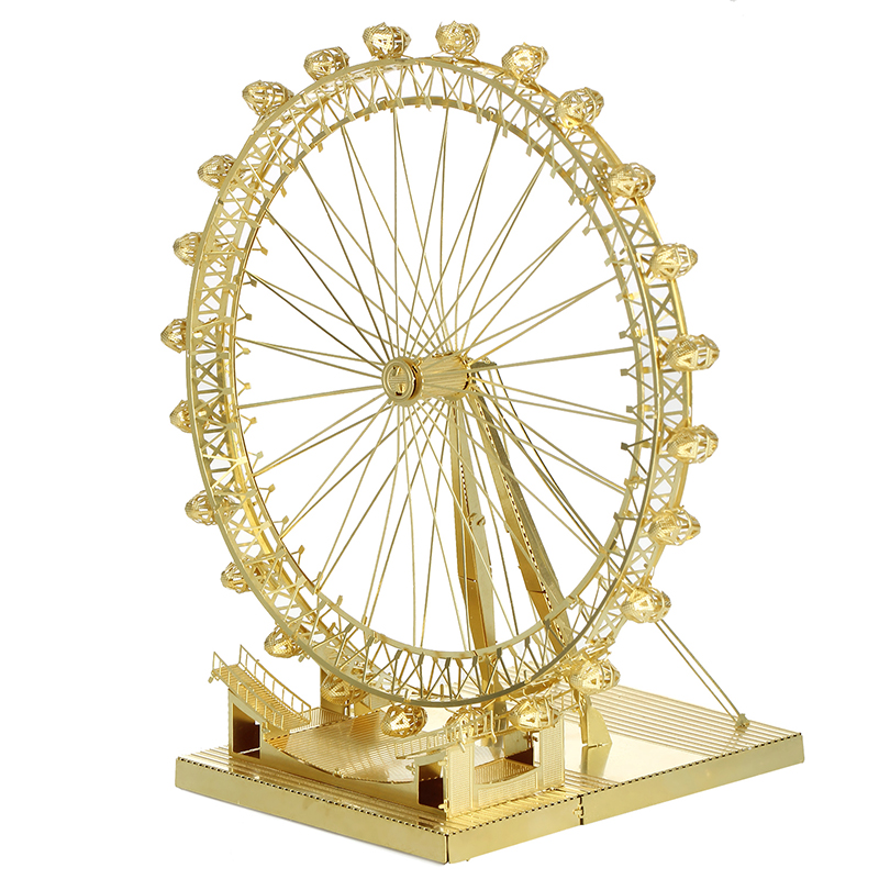 ICONX London Eye Puzzle Metal DIY Assembly Model Stainless Steel Puzzle Kids Toys Brinquedos Educational Jigsaw Puzzle For Boy(China (Mainland))