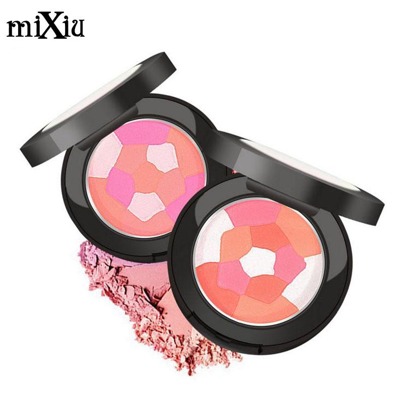 MIXIU Five Diamond Face Blush Multi-Colored Baked mc Blush Palette Cheek Color Blusher NET WT 13g Brand Makeup(China (Mainland))